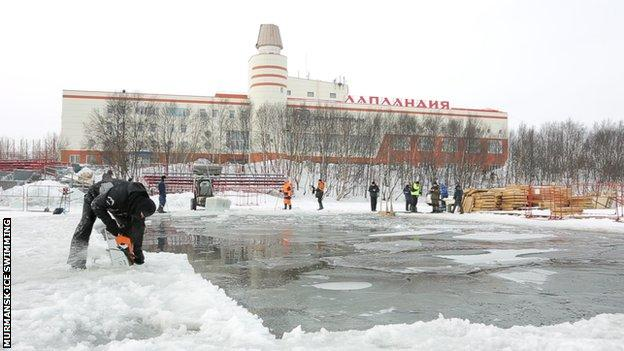 Murmansk Ice Swimming