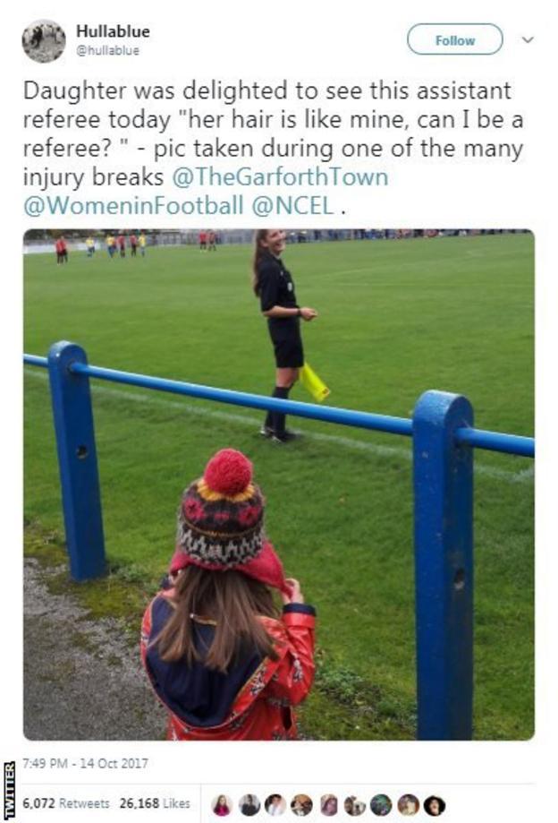 Referee Melissa Burgin
