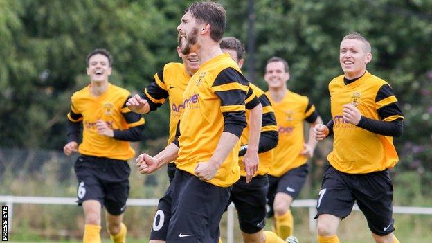 Michael McLellan scored nine goals in a Steel & Sons game against Rathcoole in 2014