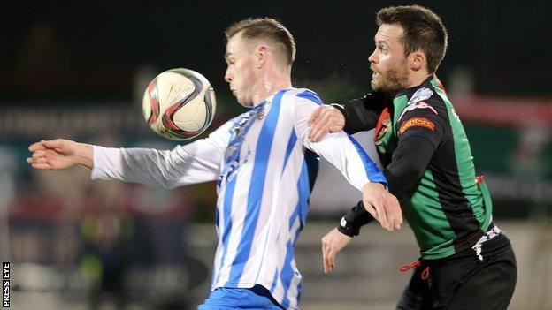 Darren McCauley's Coleraine team and David Scullion's Glentoran are set to meet in the semi-final play-off