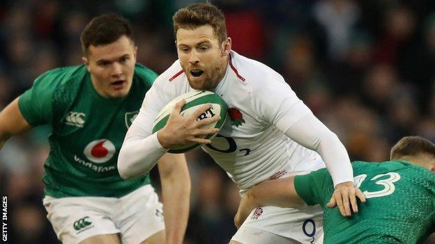 Elliot Daly in action for England