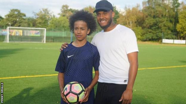 in_pictures Mydas Smalls with Southampton's former Chelsea defender Ryan Bertrand