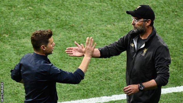Tottenham boss Mauricio Pochettino (left) and Liverpool manager Jurgen Klopp