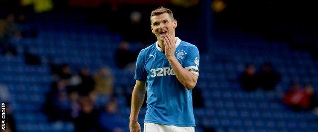Lee McCulloch in action for Rangers