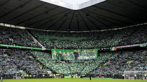 Celtic fans pack Celtic Park
