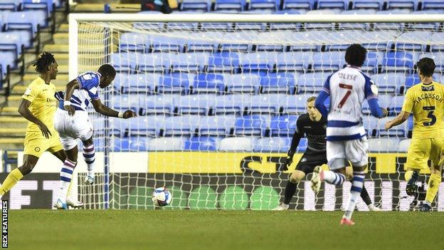 Lucas Joao scores for Reading against Wycombe