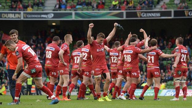 Scarlets were winners of the Pro12 final in 2017