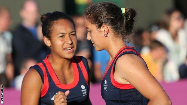 Heather Watson (left) and Laura Robson