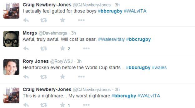 Wales fans react on Twitter