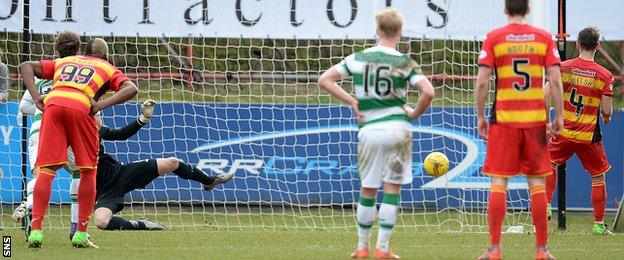 Sean Welsh slots home a penalty to spark hopes of a Thistle comeback