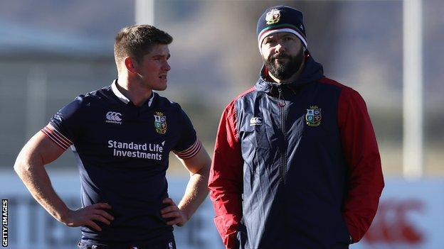 Owen Farrell and Andy Farrell
