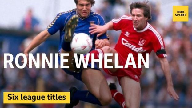 Ronnie Whelan won six league titles with Liverpool