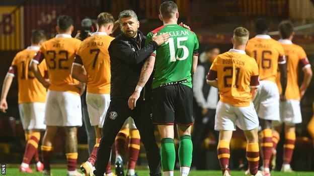 Motherwell beat another Northern Irish side - Glentoran - in the first round