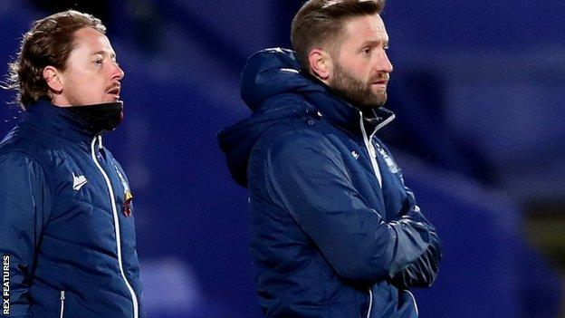 Conor Sellars (left) and Mark Trueman began coaching at Bradford City in 2018-19, taking charge of their Under-18s side