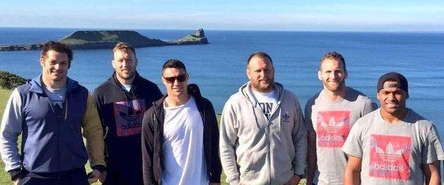 All Blacks at Rhossili Bay