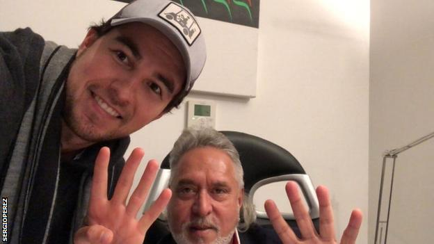 Force India driver Sergio Perez told his Twitter followers he has visited three countries in 36 hours in order to reach Abu Dhabi
