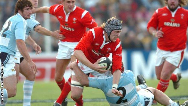 Alun Wyn Jones on his debut against Argentina in 2006