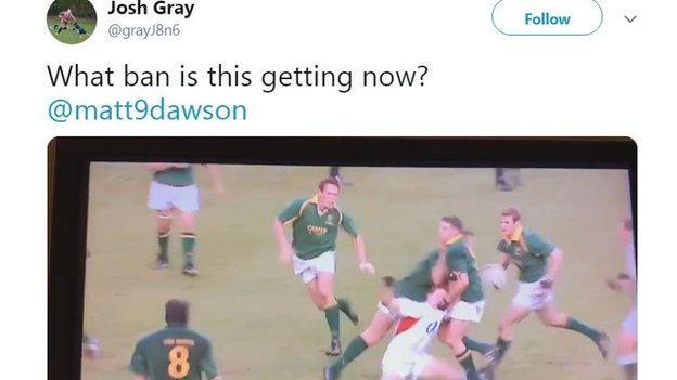 Josh Gray tweets Matt Dawson