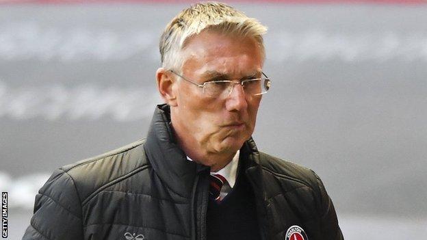 Charlton manager Nigel Adkins
