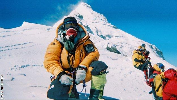 Hannah Shields on the way to climbing Mount Everest in 2007