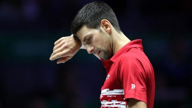 Novak Djokovic's Serbia beaten by Russia in Davis Cup quarter-finals thumbnail
