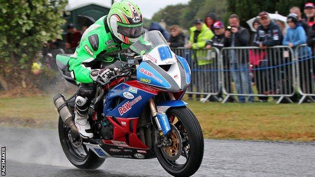 Derek McGee was a comfortable winner of the Supersport race