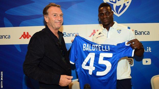 Mario Balotelli Brescia President Massimo Cellino Says He Can Leave On A Free In January Bbc Sport
