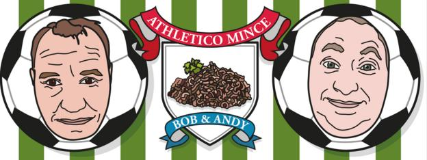 Bob Mortimer and Andy Dawson of Athletico Mince