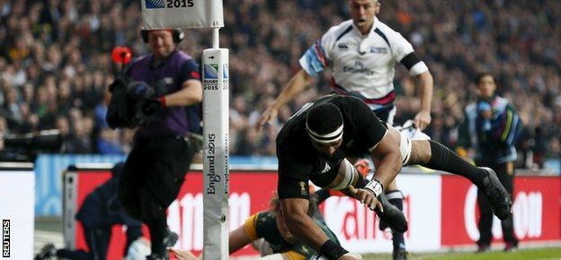 Jerome Kaino set New Zealand on their way to the final with an early try against South Africa
