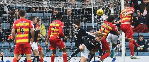 Liam Lindsay scores for Partick Thistle against Dundee