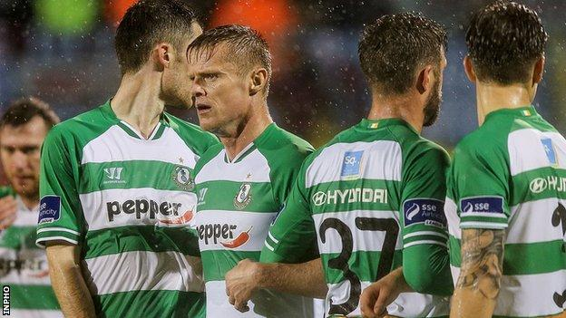 Damien Duff finished his career with Dublin side Shamrock Rovers