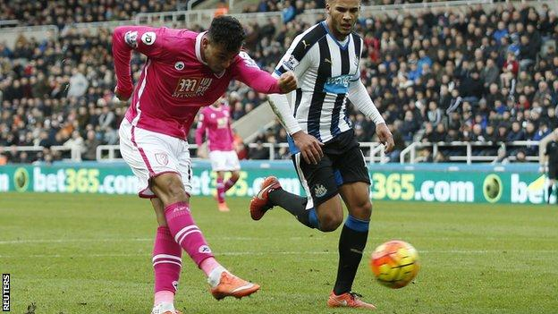 Joshua King scores against Newcastle