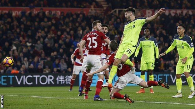 Adam Lallana's fifth goal of the season gave Liverpool the lead
