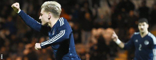 Hibernian's Jason Cummings was on the score-sheet for Scotland