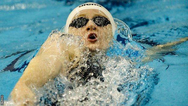 Larne swimmer Danielle Hill is hoping to clinch a spot at this year's Olympics at the Irish trials in April