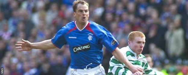 De Boer sampled the atmosphere at Celtic Park during his spell at Rangers
