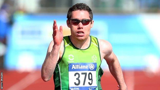 Jason Smyth in action at last year's European Paralympic Games