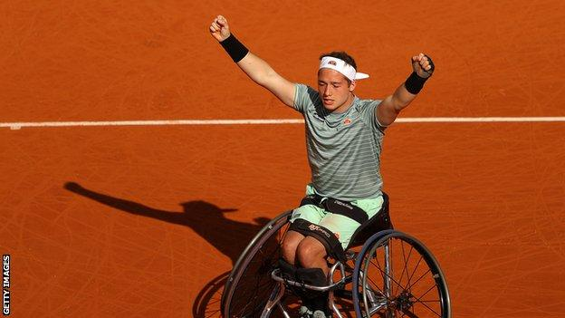 Alfie Hewett wins French Open wheelchair title for second time