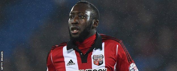 Brentford midfielder Toumani Diagouraga
