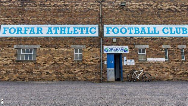 Forfar Athletic were due to be away to Dundee in their League Cup opener