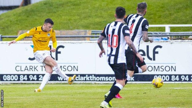 Josh Campbell strokes home a shot on the cusp of half-time