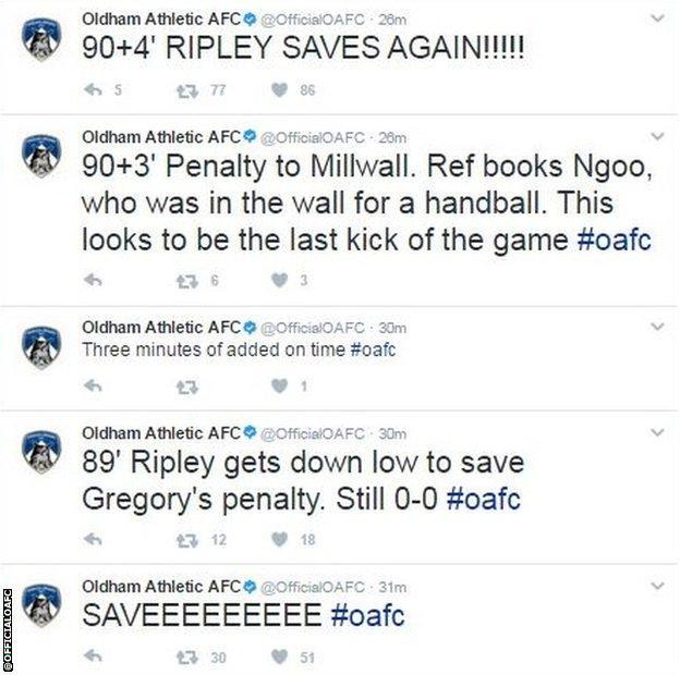Oldham tweets
