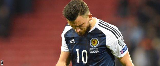 Robert Snodgrass looks dejected at full-time