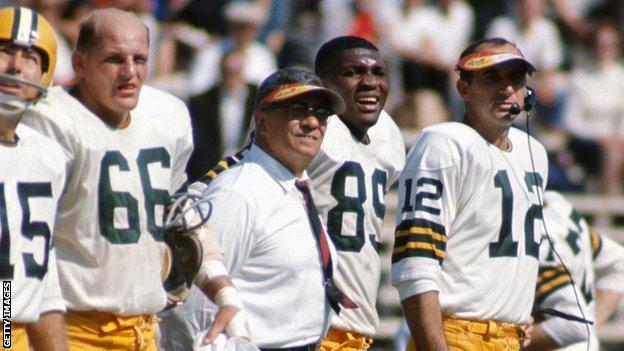 Vince Lombardi coaching the Green Bay Packers