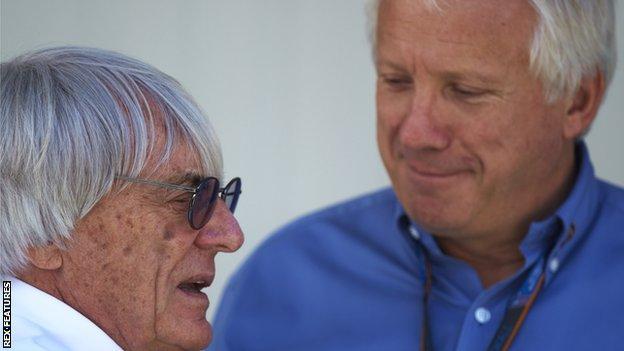Bernie Ecclestone and Charlie Whiting