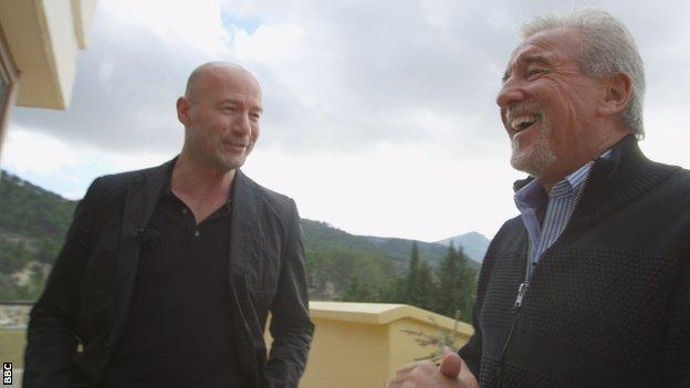 Alan Shearer and Terry Venables