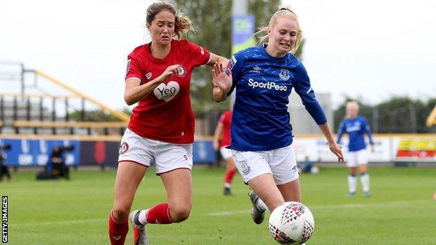 Georgia Wilson in action against Everton