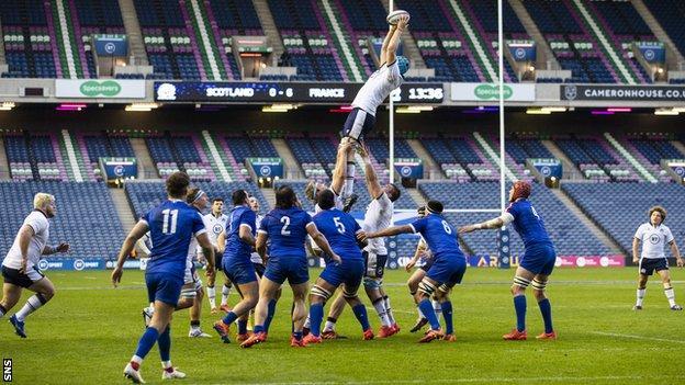 Scotland played France in an empty Murrayfield last weekend
