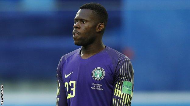 Nigeria goalkeeper Francis Uzoho