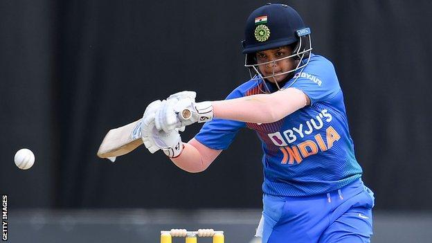 Shafali Verma batting for India